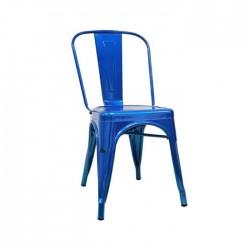 Silla Tólix metallic acabado azul metalizado