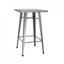 Mesa alta Tólix acero color gris metalizado