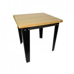 Mesa Michigan estructura acero negro y tablero de madera