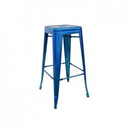 Taburete Tólix metallic color azul metalizado