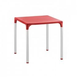 Mesa plástico Olimpia color rojo