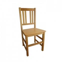 Silla Cuenca madera color roble con asiento de madera