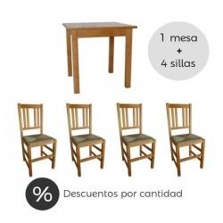 Conjunto hostelería madera económico Cuenca