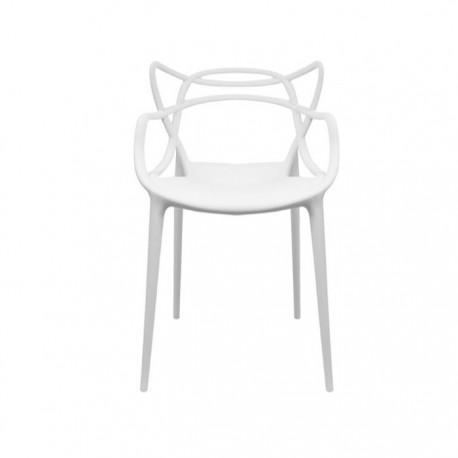 Silla Masters diseño en polipropileno color blanco