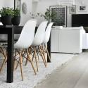 Silla nórdica Eames polipropileno color blanco