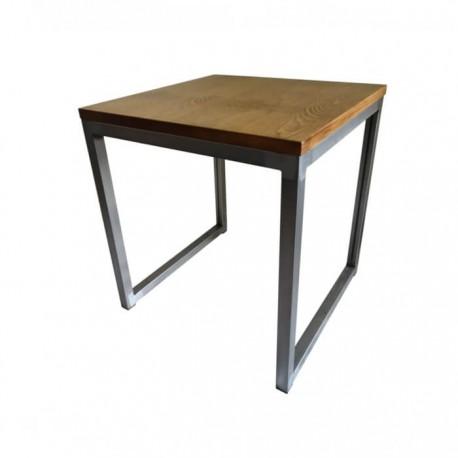 Mesa industrial Detroit estructura acero y tablero madera