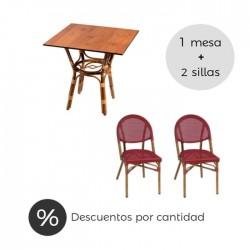 Conjunto hostelería Marsella sillas bistrot textilene