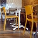 Sillas Town plástico color mostaza y taupe hostelería