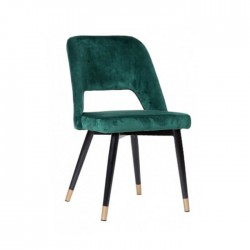 Silla Velvet terciopelo color verde