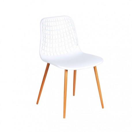 Silla Beck hostelería asiento plástico color blanco