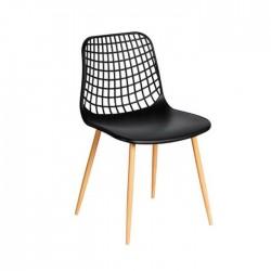 Silla Beck hostelería asiento plástico color negro