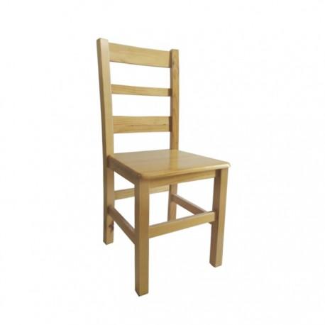 Silla Toledo madera color natural con asiento de madera
