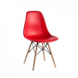 Silla nórdica Eames polipropileno color rojo
