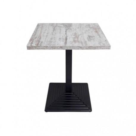 Mesa económica Pirámide melamina color blanco vintage