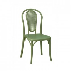 Silla Amberes parisina plástico color verde kaki