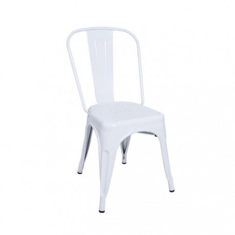 Silla industrial Tólix acero color blanco