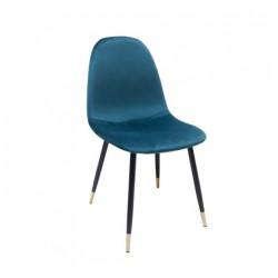 Silla Amalfi terciopelo verde azulado