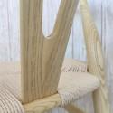 Silla Wishbone madera olmo natural hostelería y comedor