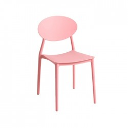 Silla plástico económica hostelería Altea rosa