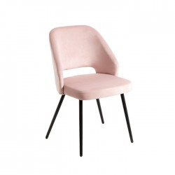 Silla Trieste terciopelo hostelería rosa claro