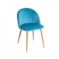 Silla Lucca terciopelo color azul turquesa