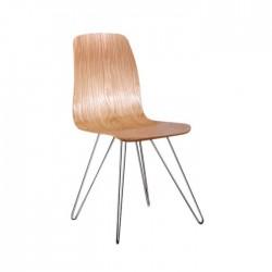 Silla nórdica Sheffield madera color natural