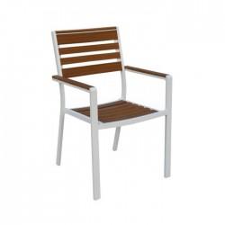 Silla Polywood aluminio color blanco