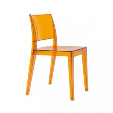 Silla Lagos policarbonato color naranja