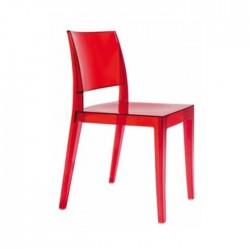 Silla Lagos policarbonato color rojo