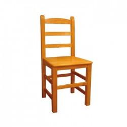 Silla Ávila madera color miel con asiento de madera