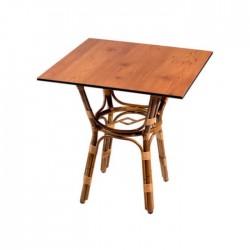 Mesa bistro Marsella compacto color pino viejo