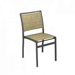 Silla Oviedo textilene marrón jaspeado