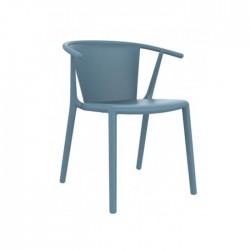 Silla Steely plástico color azul retro