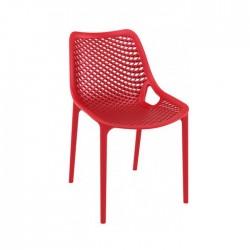 Silla Grid plástico color rojo