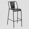 • Taburetes metálicos terraza