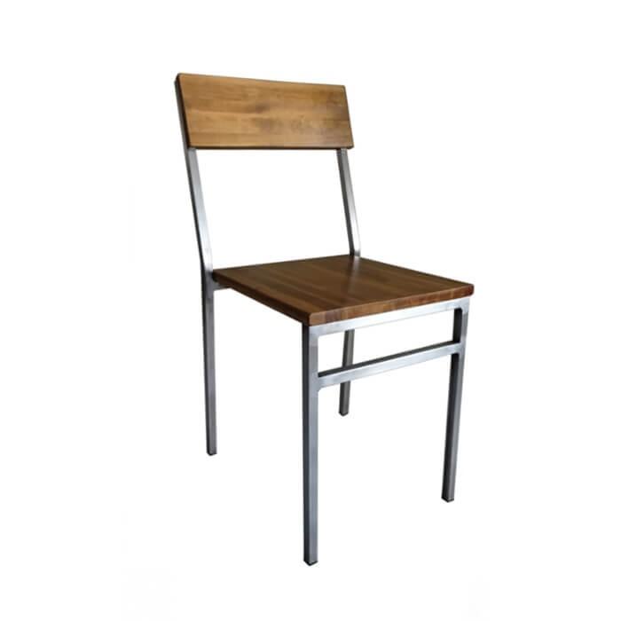 Silla industrial loft Detroit metal madera comedor, bar, restaurante, cocina, contract