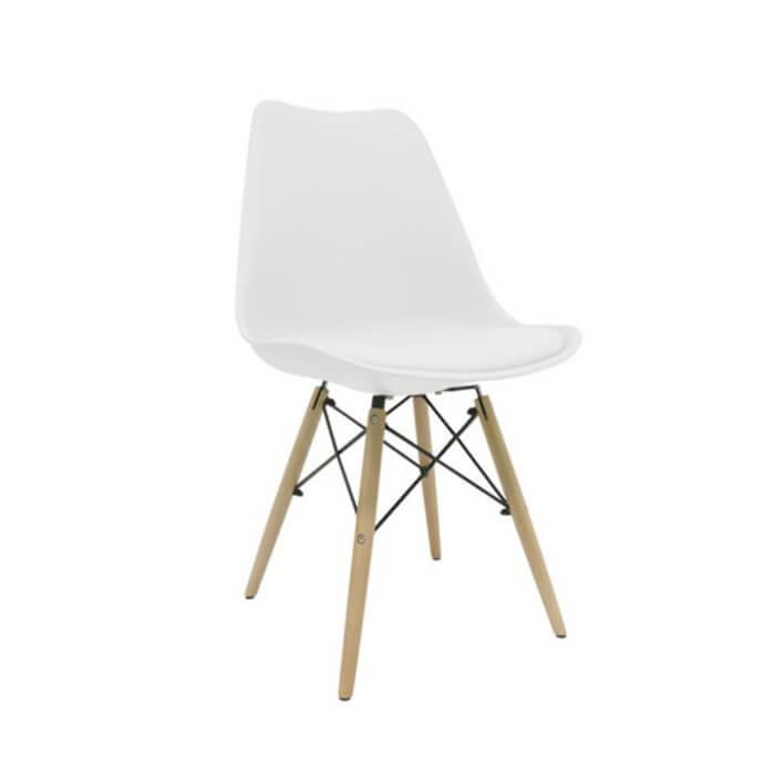 Silla Eames con cojín escandinava para comedor, cocina, bar o restaurante